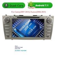 Quad core 1024*600 HD 2din Android7.1 auto dvd-speler Voor CAMRY2007-11 auto radio dubbele din met Spiegel-link Bluetooth OBD2 DVBT