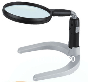 Desktop Magnifying Glass  LED Illuminated Desk lamp magnifier with stand MG83021 Also can be used as a hand loupeDesktop Magnifying Glass  LED Illuminated Desk lamp magnifier with stand MG83021 Also can be used as a hand loupe