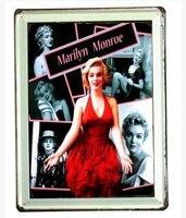 30X40 CM Mixta Marilyn Monroe Vintage Retro Cartel de chapa de Metal Decoración de la Pared Vintage Art Poster Retro placa \ Placa