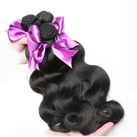 Alishes Hair Brazilian Body Wave Hair Weave Bundles Double Weft Natural Black Non Remy 100 Human