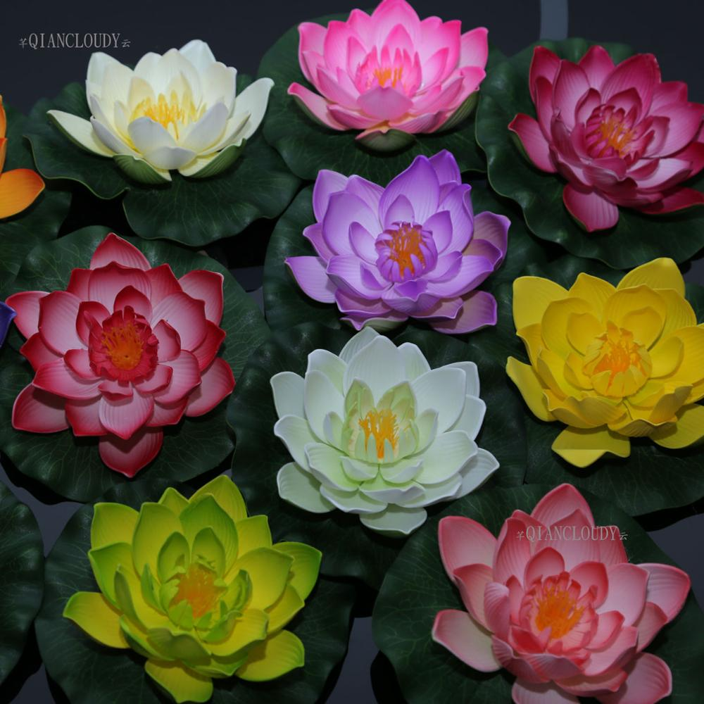 Aliexpress Buy 50 Pieces Lots Artificial Pe Fake Pond Flowers