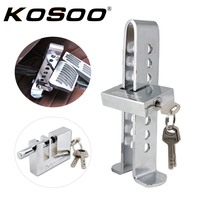 KOSOO Universal Solid Stainless Steel Anti Theft Strong Security Auto Car Brake Clutch Pedal Lock Car