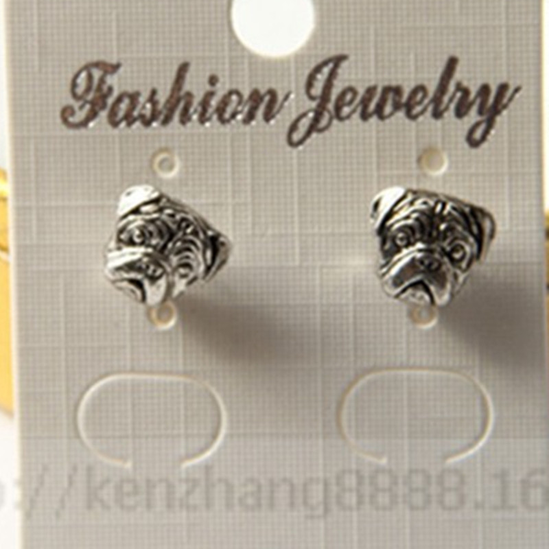 2015 Special Offer Promotion None Earings Bijoux 1pcs Products Free Shipping Wholesale Oxide Pug Earrings pug