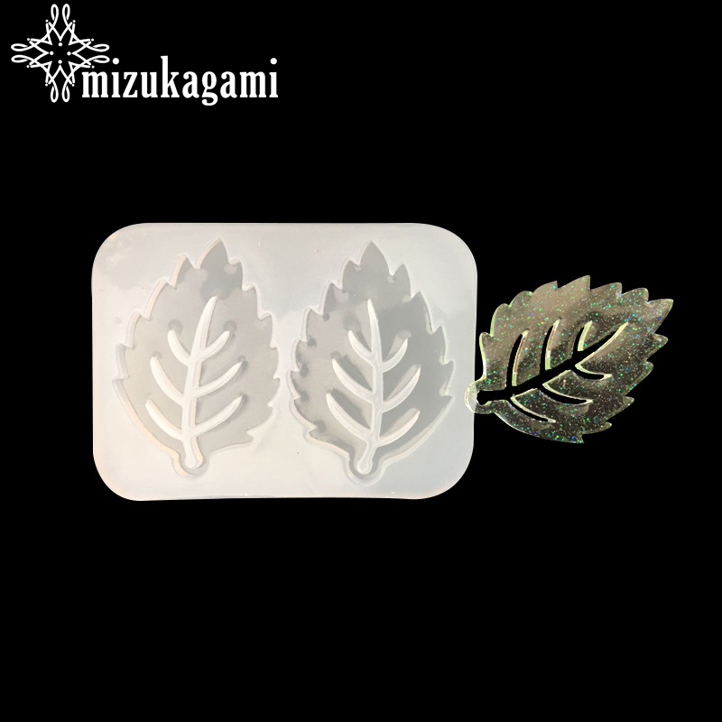 1pcs UV Resin Jewelry Liquid Silicone Mold Leaf Plants Resin Charms Molds For DIY Pendant Jewelry Making Finding Molds