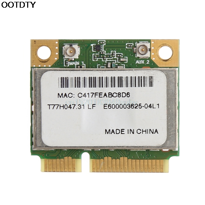 AR5B93 AR9283 Half Height Mini PCI-E Wireless Wlan WiFi Card 300Mpbs For Atheros #L059# New Hot