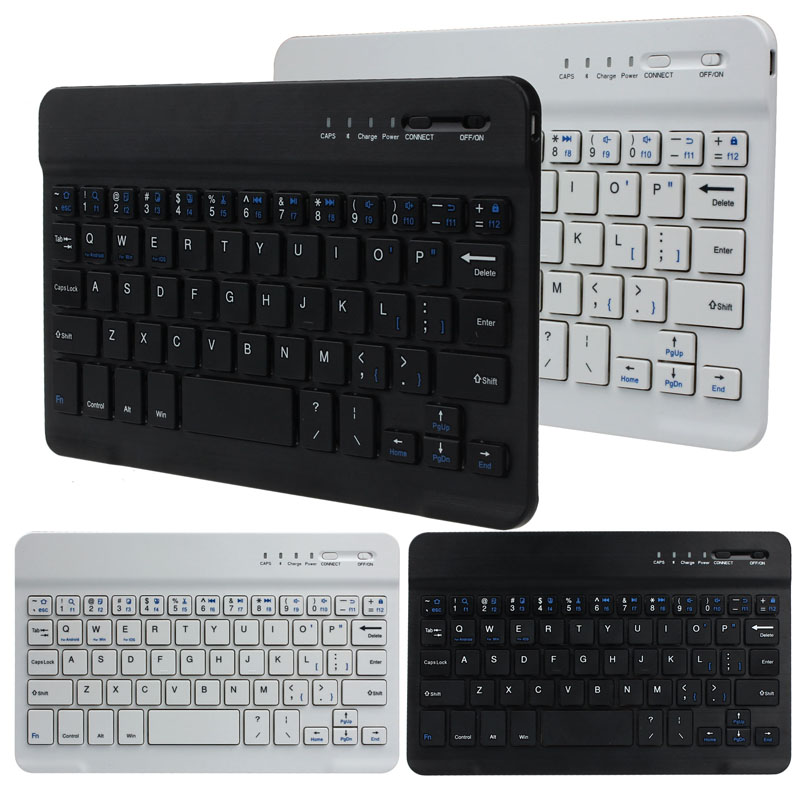 Ultra Slim Aluminum Wireless Bluetooth Keyboard For IOS Android PC 20A Drop Shipping