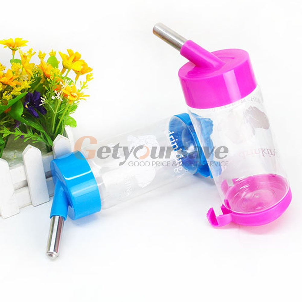 500ml Pet Dog Cat Water Drinker Hanging Bottle Dispenser Rabbit Auto Feeder LCF