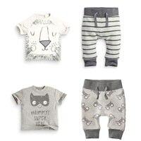 New Baby Boy Set Cute Casual Baby Suit Newborn Children Clothing Striped Cartoon Summer Baby Boy