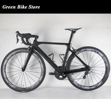 Superteam kompletny pełna węgla rower szosowy pełna węgla rower szosowy rama 22 prędkości rower szosowy pełna węgla kompletny rama roweru tanie tanio Z włókna węglowego 0 1 m3 Zwyczajne pedału Pokój v hamulca 150 kg Mężczyźni 7 kg Unisex Gumowy odporność (medium biegów bez tłumienia)