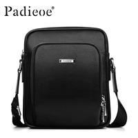 Padieoe 2016 fashion men' shoulder bags messenger bag men business men's travel bags genuine leather bag for male