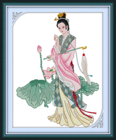 Miao-Yu Lin cross stitch kit people 18ct 14ct 11ct count print canvas stitches embroidery DIY handmade needlework