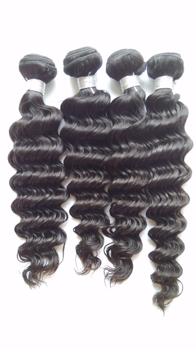 6A Unprocessed Deep Wave Brazilian Virgin Hair,4 Bundles, 8-24, Human Hair Extension, DHL Free Shipping xuchang longqi beauty hair 7a brazilian virgin hair straight tissage bresilienne lots 4 unprocessed brazilian hair weave bundles
