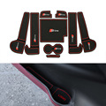 9 Pçs/set Car Styling Sulco Ranhura Pad Porta Interior Almofada De Látex Mat Anti-Slip Para Audi A6 2012-2016 Interna Do Carro Dedicado