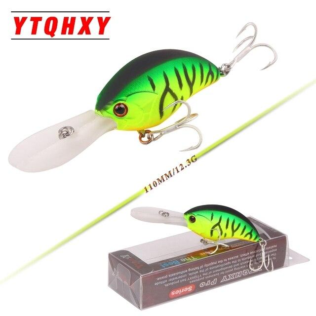 YTQHXY 2017 Hot Model Fishing Lures Hard Bait 5 colors 110mm 12.3g Minnow Dive 0.8-3m Quality Professional Crankbait YE-398