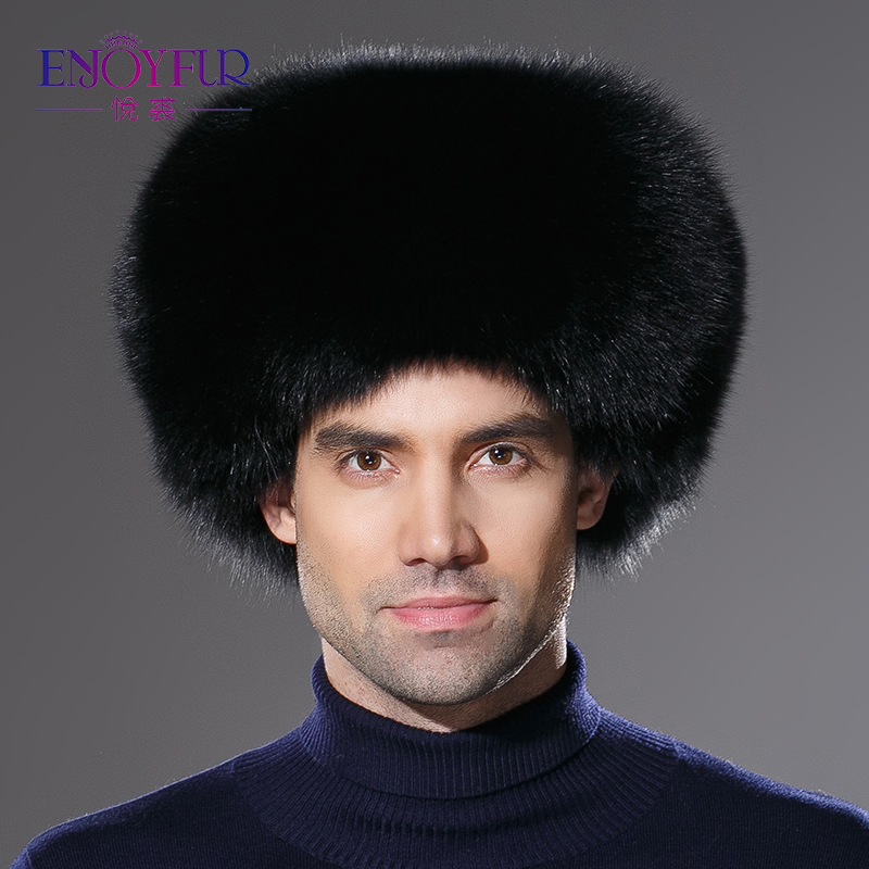 9f5caed33 US $96.8 30% OFF|2018 Winter brand new real fox fur hat for men genuine  leather cap natural raccoon fur hat for men protect ear warm enough-in  Bomber ...