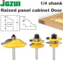 3PC1/4 хвостовика высокого качества поднятый панельный шкаф дверная фреза Набор бит-3 Бит Ogee деревообрабатывающие станки фрезы