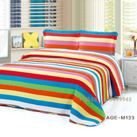 Sunshine Rainbow new washed cotton quilting is sandwiched within a three piece quilted exports