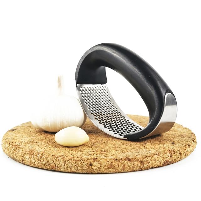 Ferramentas de Cortar Alho Alho Mincer Espremedores de Alho Manual de Aço inoxidável Curva de Frutas Vegetais Ferramentas Gadgets de Cozinha