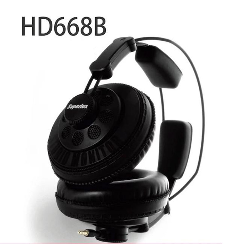Auriculares Professional Monitor Headphones DJ Studio Earphone Semi-open Dynamic Hifi Stereo Headphone Original Superlux HD668B brand new original superlux hd660 professional audio monitoring close dynamic noise isolating headphone dj hifi stereo headset