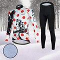 Aogda Мужские зимние велосипедные комплекты с длинным рукавом Одежда для велоспорта флисовая термо Mtb велосипедная Одежда для шоссейного вел...