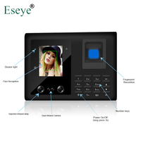 Biometric Face Facial Recognition Fingerprint Time Attendance System TCP/IP Access Control Recorder Employee Electronic Machine