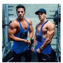 Men Sunmmer tank top Cotton Men s undershirt Bodybuilding Sleeveless Stringers Men s Vest Fitness Muscle