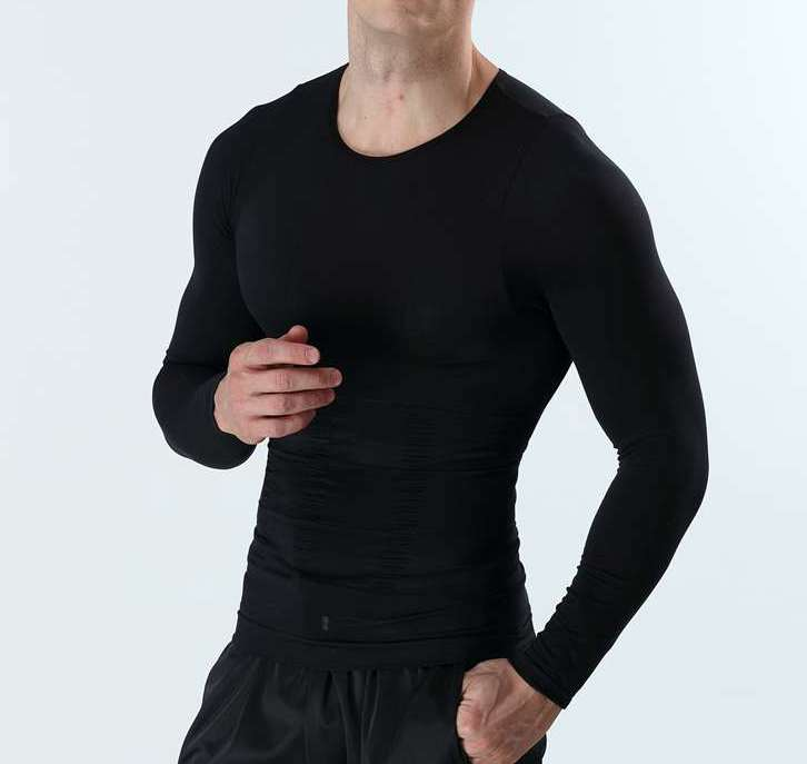 Men T-shirt bodysuit slimming clothes corset male underwear body shapers faja hombres abdomen tight for weight loss