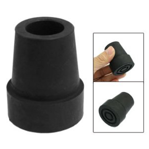 19mm 3/4 Black Rubber Skid Resistant Cane Pad Crutch Tip19mm 3/4 Black Rubber Skid Resistant Cane Pad Crutch Tip