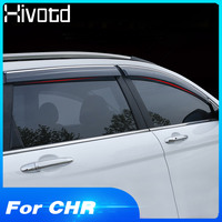 Hivotd For Toyota C HR CHR Exterior ABS window visor side Sun Rain Cover decoration Shield body accessories car stying 2017 2019