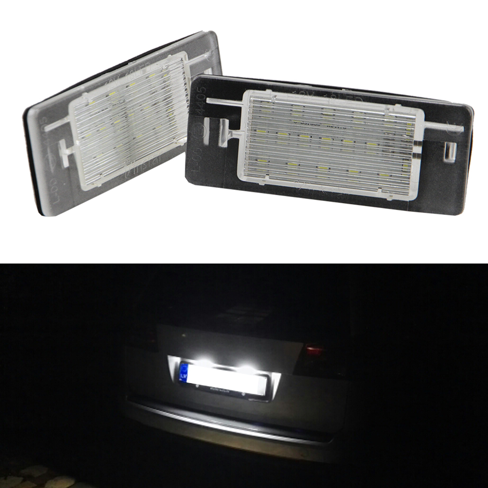 2pcs Error Free 18-SMD LED License Number Plate Light Lamp For Opel Vectra C Estate 2002-2008 VAUXHALL Caravan maluokasa 2x error free 18 smd led license plate light number plate lamp auto turn signal for vw transporter t4 passat 1990 2003