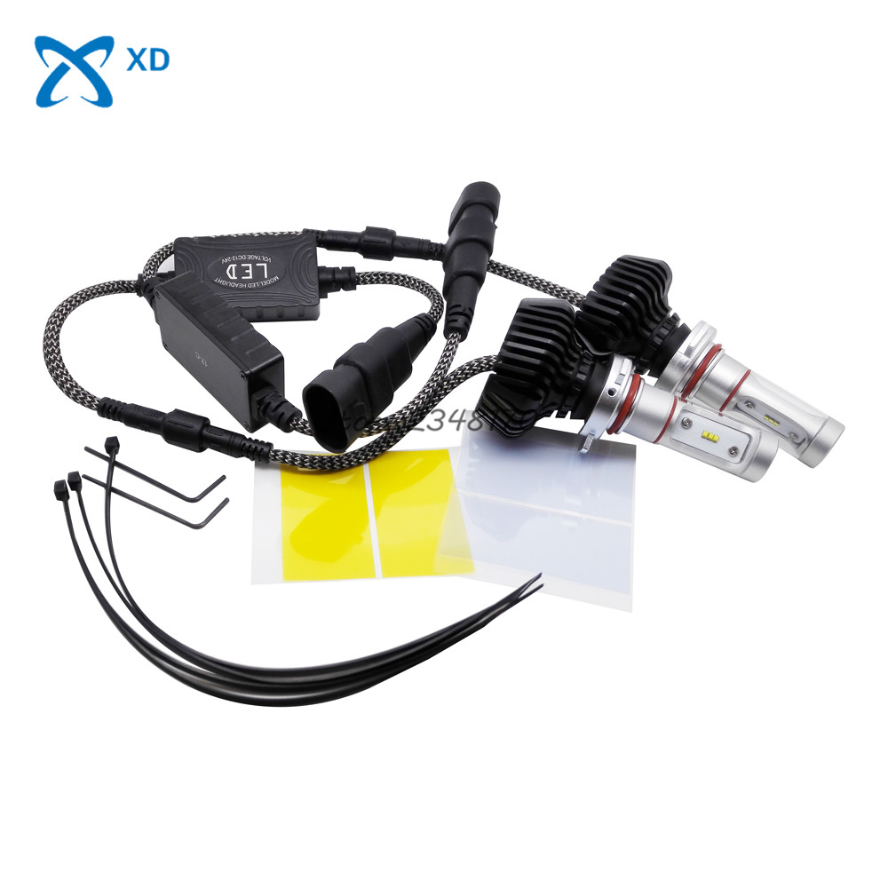 Car LED Headlight 9012 30W 3000lm Auto Bulb Headlamp 6000K Light for Jeep Hyundai Lexus Mazda MINI Cooper Mitsubishi Nissan Opel 2pcs set 72w 7200lm h7 cob led car headlight headlamp auto lamps led kit 6000k headlight bulb light car headlight fog light