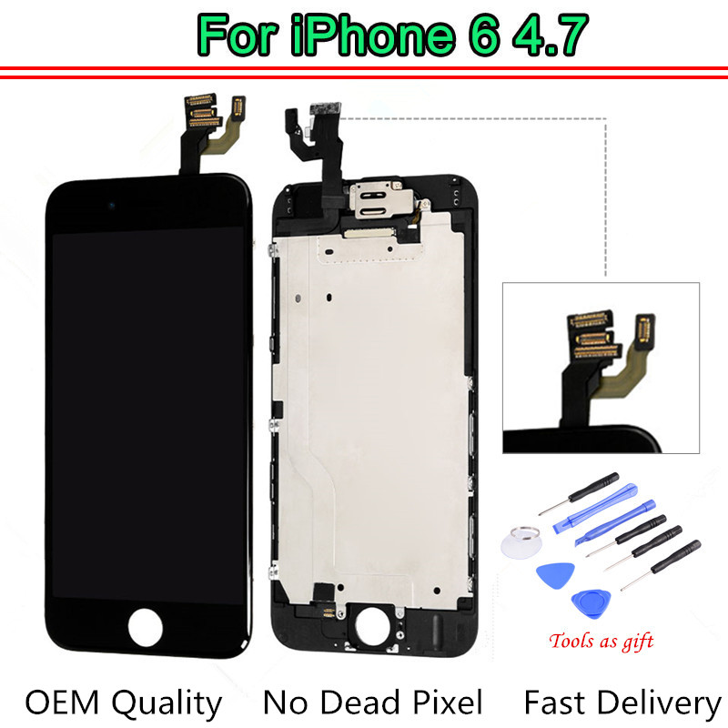 1PCS OEM Quality No Dead Pixel For iPhone 6 LCD Full Assembly With Camera Speaker Touch