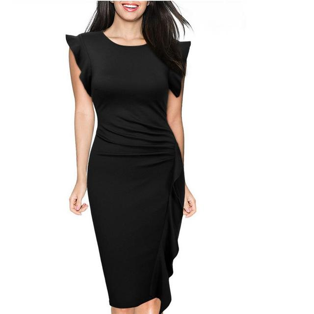 Free Shipping Women S Summer Dress Vestidos O Collar Sleeve Sleeve