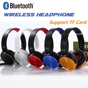 Fashion TF Card Insert Bluetooth Wireless Headphone Gaming Headset PS4 Sport Headphone For Phone With Microphone Hands Free