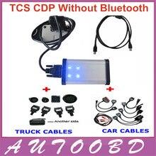 DHL libre!! negro (LED LIGHT) TCS CDP Pro Plus 2014. R2 con activación gratis + (Vuelo y Altavoz) + 8 cables del coche completo + completo 8 cables de camiones