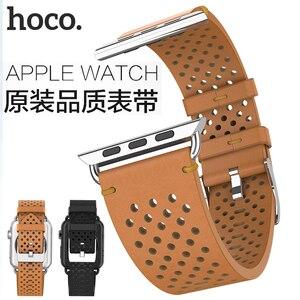 Image 4 - Hoco cavaleiro pulseira de couro genuíno 20mm 22mm para apple assistir série 4/3/2 pulseira para iwatch 40/44/38/42