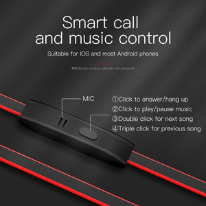 Image 5 - HOCO Metallic In ear Earphone Earbuds Stereo Sport Headphone Noise Isolating with Mic Wired Headset 3.5mm Jack for iphone 5 6S
