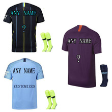 Thai Quality Sporting 2018-19 Name Numbers Customized Men's T-shirt Sets Shirt Paintless Training Fashions High Quality T-Shirt