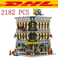 2017 New LEPIN 15005 2182Pcs Creator Grand Emporium Model Building Kits Blocks Bricks Compatible Toys For Children Gift 10211