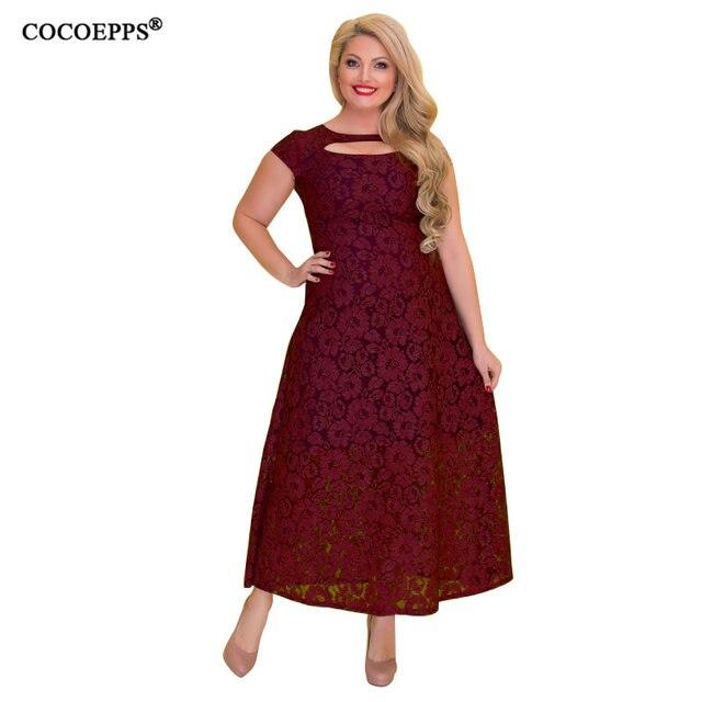 5XL 6XL 2018 женское длинное кружевное платье бренд лето плюс размер платье Большой размер Макси Вечеринка платья большой размер женский vestidos