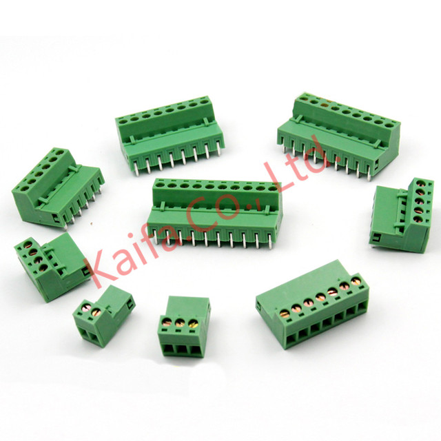10pcs /lots 5.08MM Pitch PCB Pluggable Terminal Block Connector 2/3/4/5/6/7/8/9/10P Curved needle KF2EDGK  Pin Copper Universal