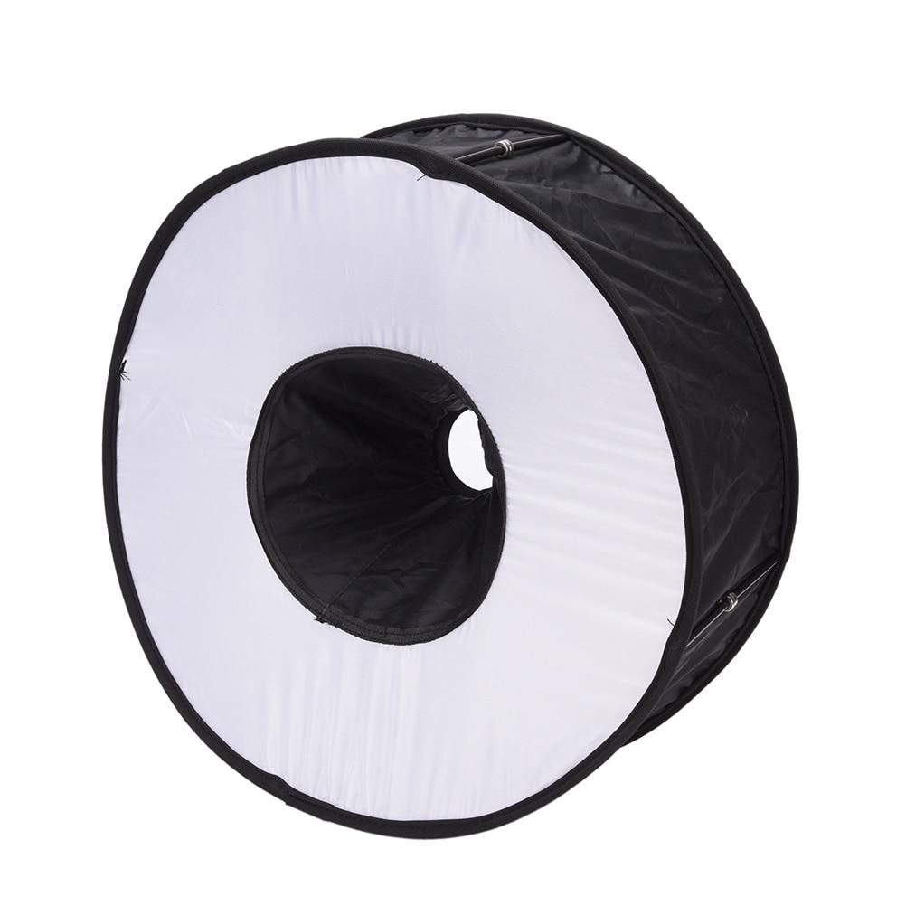 El más nuevo difusor de Flash redondo portátil de 45 cm Universal doblado anillo magnético difusor de Flash Softbox para Macro retrato de fotografía
