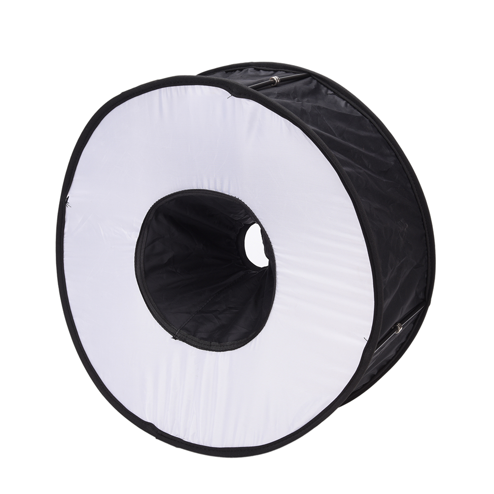 Newest Portable 45CM Round Flash Diffuser Universal Folded Magnetic Ring Flash Diffuser Softbox for Macro Portrait Photography светоотражатель lastolite 45cm trigrip mini diffuser 1 stop 3551