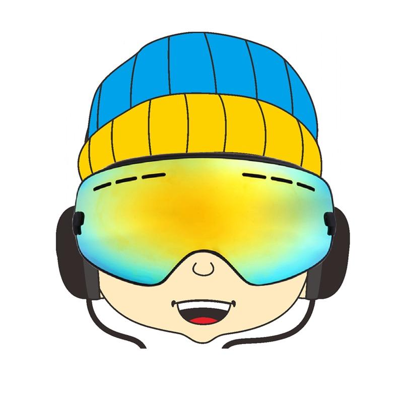Prix pour Enfants extra-large lentille UV400 Anti-brouillard ski lunettes pour patin à roulettes chaussures pour enfants double objectif de neige lunettes lunettes de ski lunettes