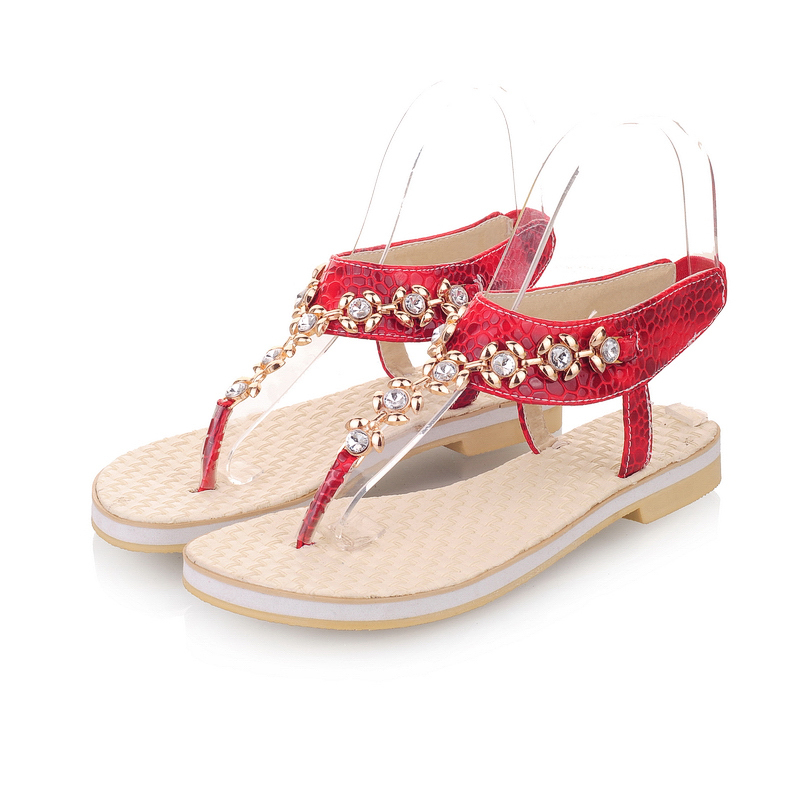 2014 Designer Sandals Rhinestone Rose Gold Flip Flops Slip on Ladies Flat  Sandals Elastic Band PU Leather Women Shoes LIY212-in Women s Sandals from  Shoes ... 9ff583afeb63