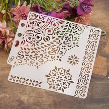 "Buy 13cm 5.1"" 1/4 Circle Edge DIY Layering Stencils Wall Painting Scrapbook Coloring Embossing Album Decorative Paper Card Template directly from merchant!"