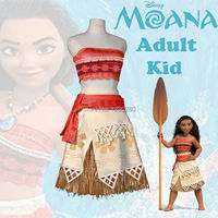Moana Cosplay Costume Sexy Princess Costume Halloween Suit Movie Moana Costume Adult Women And Kid Party