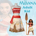 Moana Cosplay Costume Sexy Princess Costume Halloween Suit Movie Moana Costume Adult Women And Kid Party Dress Skirt Custom Made