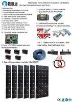 110V/220V 600W Solar Home off grid tie systems sea shipment 6* 100W mono solar modules bracket 2000W inverter DIY kits
