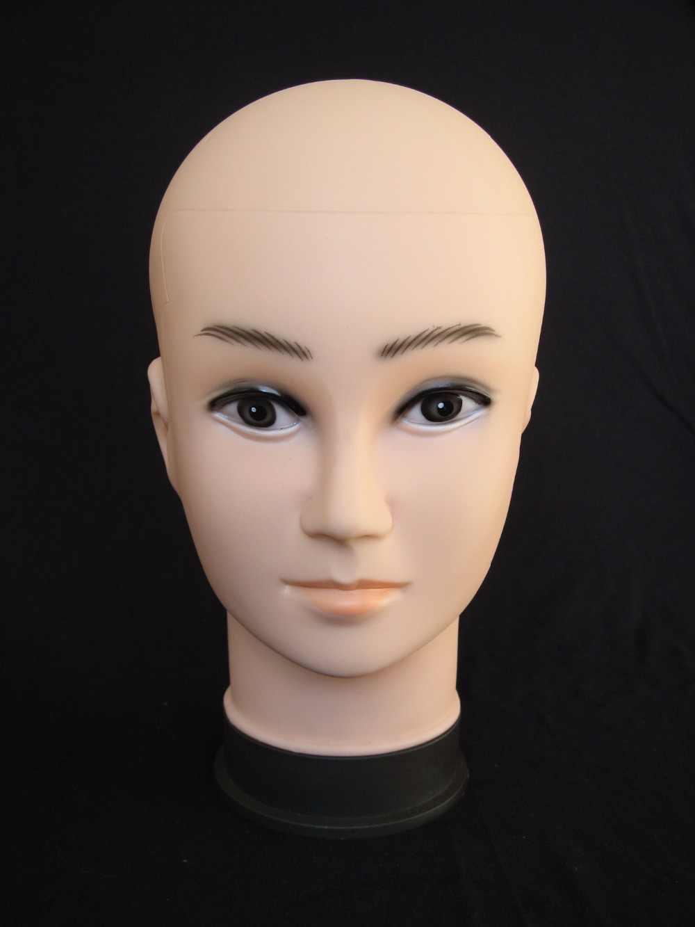 リアルなプラスチック製の男性マネキン用のマネキンダミーヘッド帽子ディスプレイ、マネキンヘッド